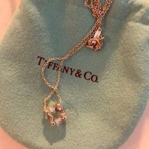 Authentic Tiffany's & Co pendant stone necklace